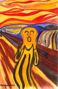 "Inspirat en ""El crit"" de Munch"