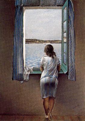 la noia a la finestra